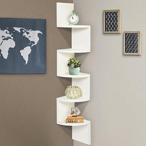 Small Corner Wall Decor: Wall Shelves,Swyss Stackable 5 Tiers Corner Wall Shelf Zig