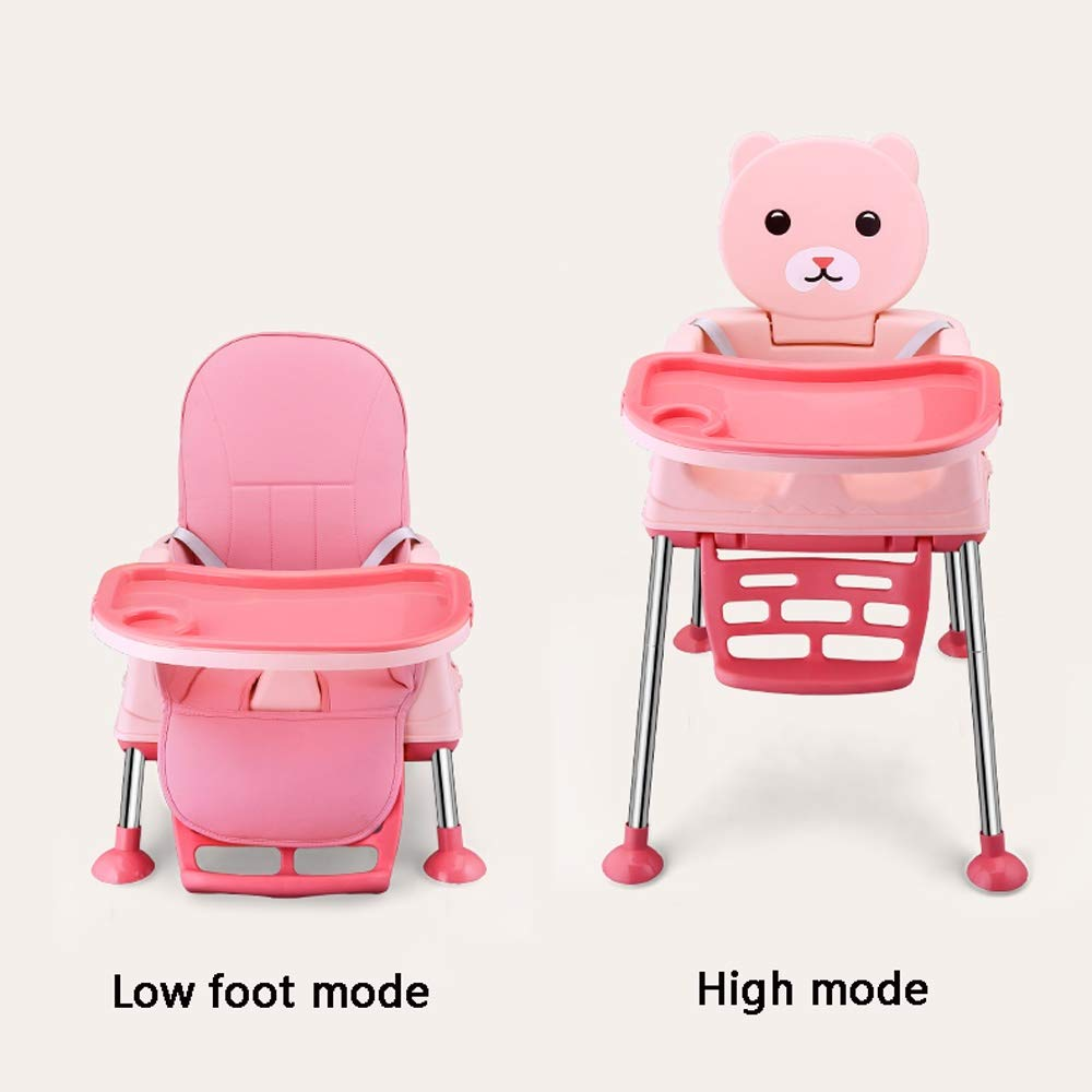 Swttppy Kids Baby Child Eat Feeding Chair Dining Chair Stool Slidable Toy Portable Folding Dining Seat Stool Dining Table and Chair Stool Feeding Chair Stool Dining Stool High Chair Booster Seat by Swttppy