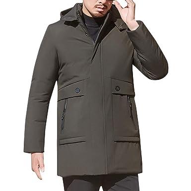 SOMESUN Herren Winter Warme Daunenjacke Mit Kapuze Baumwolle
