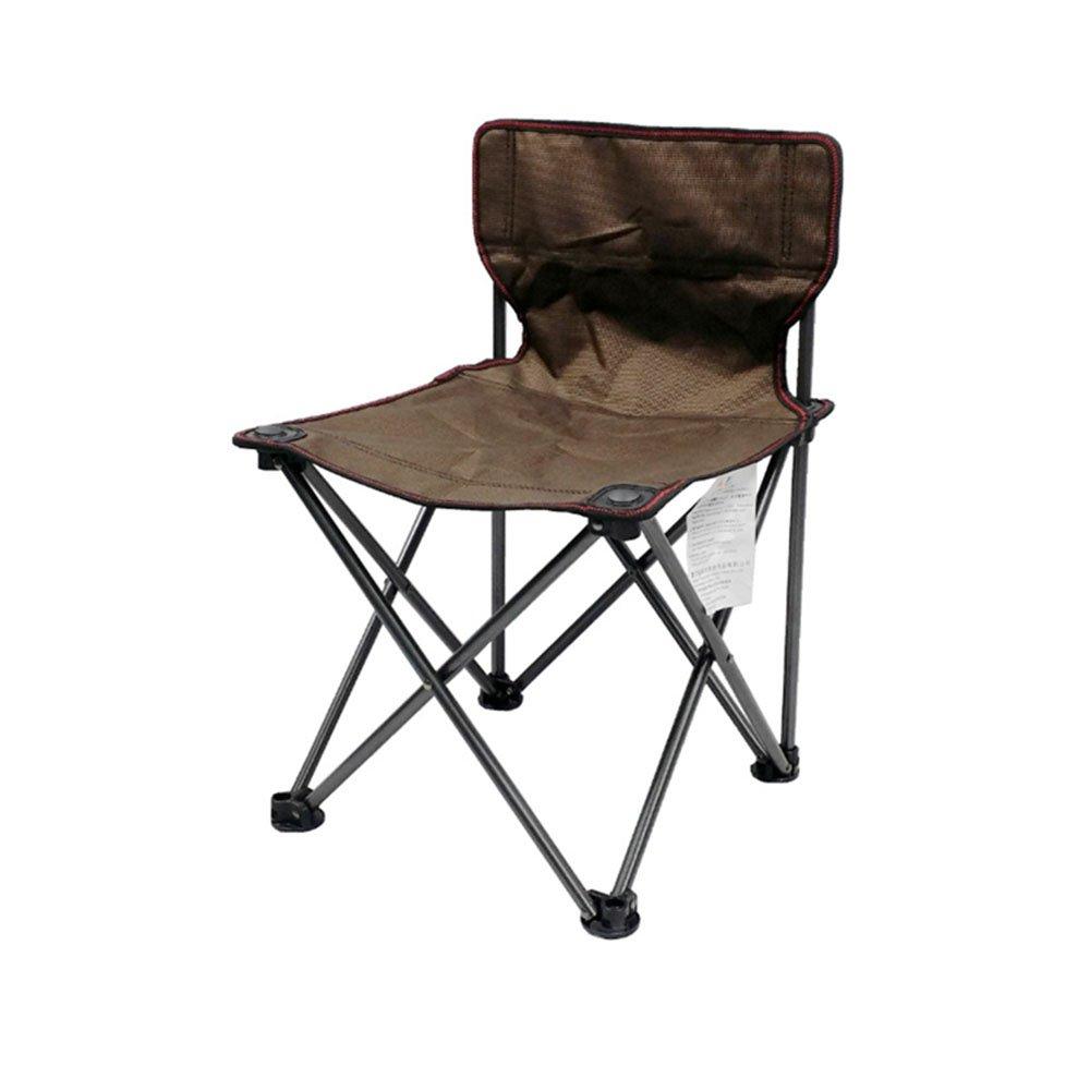 GzHポータブルアウトドアキャンプ折りたたみ椅子ビーチ背もたれ釣りラウンジチェア荷重を受ける80 kg  ブラウン B07DNWYZCR