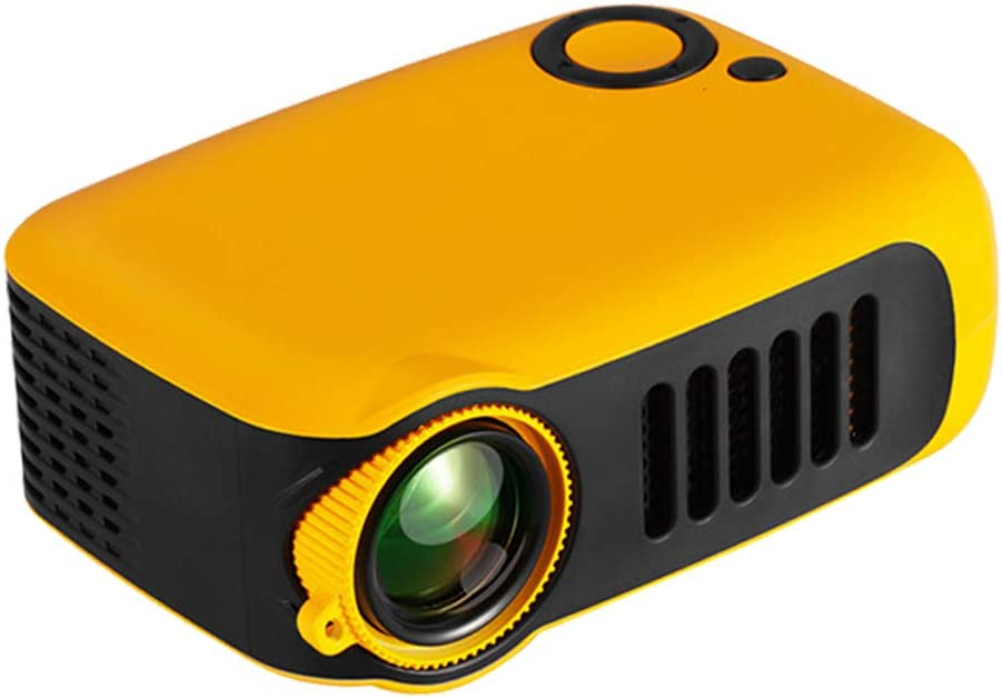 MERLINAE Kids Projector,Mini Pocket Projector,Portable Video Projector Multimedia Home Theater Movie Projector Compatible with TV Stick,Surport 1080P HDMI,USB,AV,Laptop for Children Gift Orange