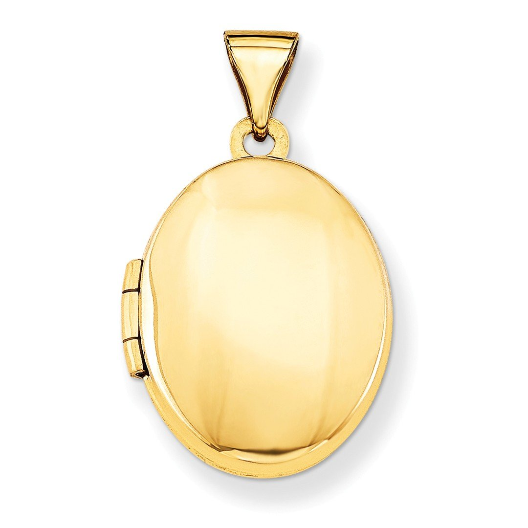 ICE CARATS 14k Yellow Gold Plain Oval Photo Pendant Charm Locket Chain Necklace That Holds Pictures Fine Jewelry Ideal Mothers Day Gifts For Mom Women Gift Set From Heart