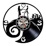 Nightmare Before Christmas Theme Vinyl Wall Clock for Lovers