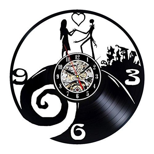 Christmas Theme Wall Clock - Nightmare Before Christmas Theme Vinyl Wall Clock for Lovers