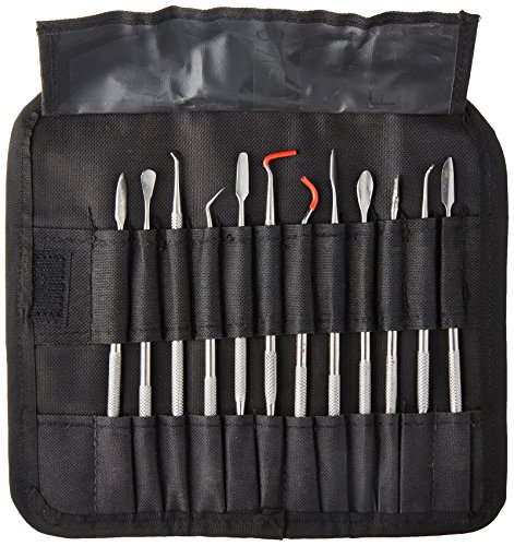 SE DD3122CP Stainless Steel Wax Carver Spatula Pick Set (12 PC.) ()