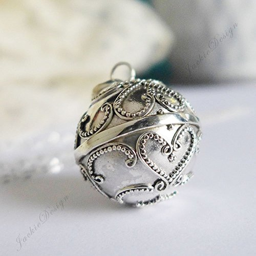 20mm Angel Caller Chime Bell Sterling Silver Harmony Ball Pendant 30