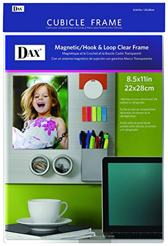 DAX N140285M Velcro Magnetic Cubicle Photo Document Frame, Acrylic, 8-1/2 x 11 Inches, Clear (Dax Acrylic Frame)