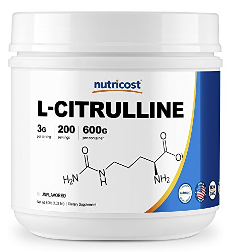 Nutricost Pure L-Citrulline (Base) Powder (600 Grams)