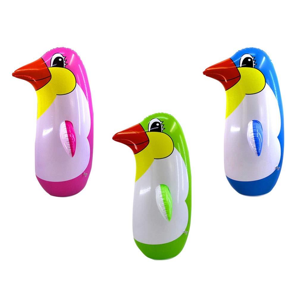 STOBOK 6 St/ücke Aufblasbare Pinguin Spielzeug Pinguin Tumbler f/ür Party schwimmbad-22 cm gelegentliche Farbe