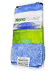 Life Miracle Nano Towels - Amazing Eco Fabric That Cleans Virtually Any Surface with Only Water. No More Paper Towels Or Toxic Chemicals. 4-Pack (8x8, Nano Blue)