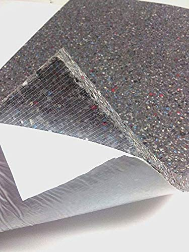Espuma de aislamiento acústico adhesiva, para la insonorización (100 x 50 cm xh)