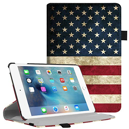 Fintie iPad Mini 4 Case - Multiple Angles Stand Case with Smart Cover Auto Sleep/Wake Feature for Apple iPad Mini 4 (2015 Release), US Flag