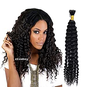 Amazon.com : eCowboy High End Bulk Hair for Micro Braiding ...