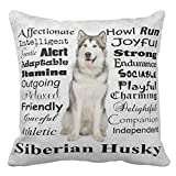 Ntpclsuits Husky Traits Home Decor Pillow Cover for Girls Throw Pillowcase Dorm Room Decor Throw Pillows for Couch 18 x 18