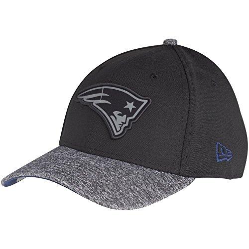 Gorra ajustable de los New England Patriots, de la NFL, colección 39Thirty (Nueva Era), color gris