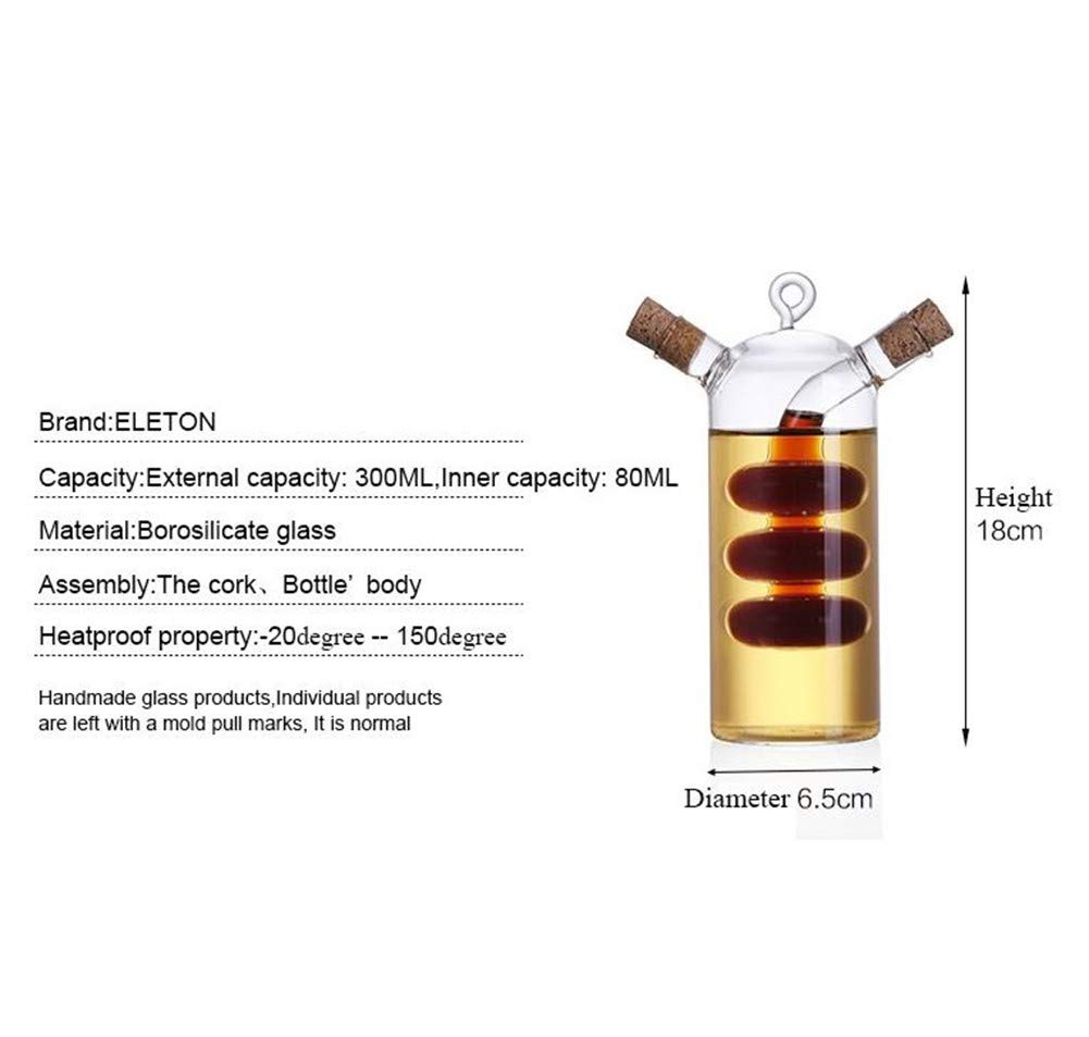 WYYU Dispensador Aceite Oliva y Vinagre,2 en 1 Botellas Vidrio con Corcho: Amazon.es: Hogar
