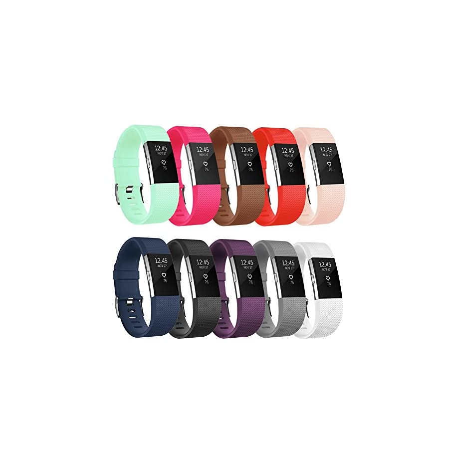 POY Compatible Fitbit Charge 2 Bands, Classic & Special Edition Replacement Bands Compatible Fitbit Charge 2, Large/Small