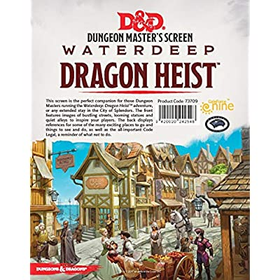 Gale Force Nine Dungeons & Dragons - Waterdeep Dragon Heist DM Screen: Toys & Games
