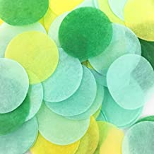 AWESON PARTY Summer Tropical Party Mint Green Tissue Paper Confetti Circle Dots Wedding Favors Celebration Table Scatter Baby Shower Birthday Graduation Party Decorations
