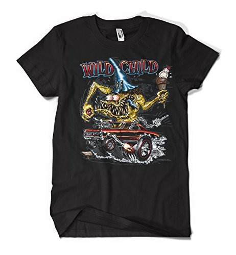 Iconic Muscle Tee - Rat Fink Wild Child (Large)