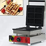 Wotefusi Waffle Maker 6 Pieces Waffle Baker Iron Machine for Commercial Kitchen Home Use 110V