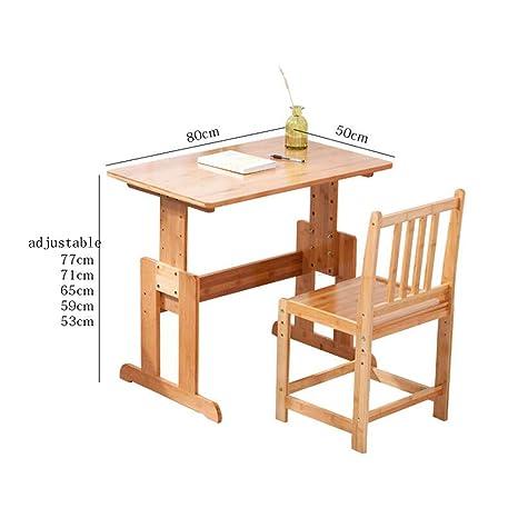 Tavolo Altezza 80 Cm Da Cucina.Fufu Tavolo Sedia Da Scrivania Per Bambini Set Regolabile In Altezza