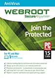 Webroot Internet Security Antivirus | 2017 | 1 Devices | 1 Year Subscription | Mac