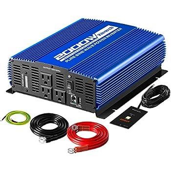 Amazon.com: Gowe 12v 24v 48v 2000w, Pure Sine Wave Inverter ...