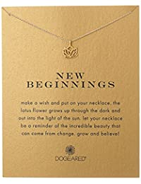 """Dogeared """"Reminders"""" New Beginnings Rising Lotus Pendant Necklace, 18.4"""