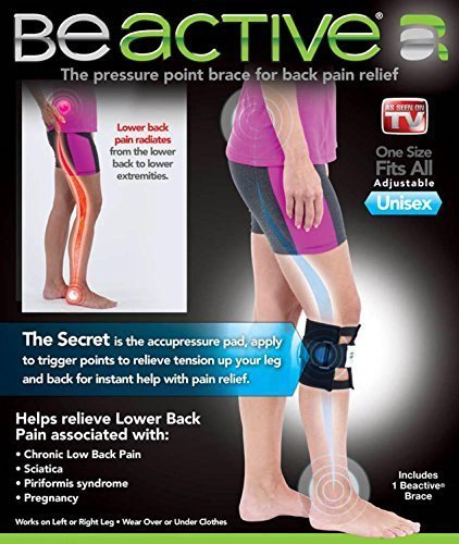 Be-Active Brace Acupressure Pad Back Pain Sciatica ()