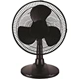 MAINSTAYS 12 Inch Table Fan Black