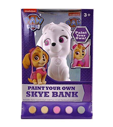 Figural Bank (Nickelodeon Paw Patrol Skye Figural Coin Bank, Unpainted, 10