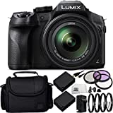 Panasonic Lumix DMC-FZ300 Digital Camera 15PC Accessory Kit Includes 2 Replacement BLC-12 Batteries, AC/DC Rapid Home & Travel Charger, MORE - International Version (No Warranty)