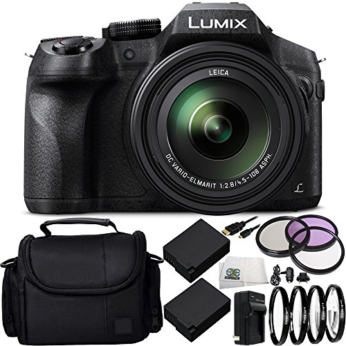Panasonic Lumix DMC-FZ300 Digital Camera 15PC Accessory Kit Includes 2 Replacement BLC-12 Batteries, AC/DC Rapid Home & Travel Charger, & MORE - International Version (No Warranty)