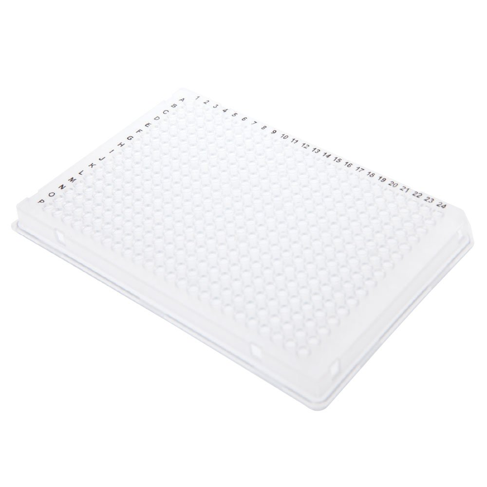 384-Well PCR Plate, White, A24 & P24 Cut Corner, 10 Plates/Unit