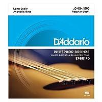 Cuerdas de bajo acústico D'Addario EPBB170 Phosphor Bronze, escala larga, 45-100