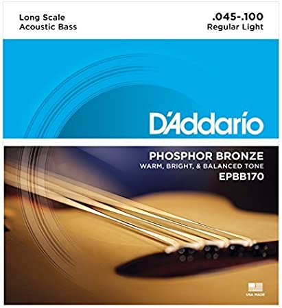 D/'Addario EPBB170 Phosphor Bronze Acoustic Bass Strings 45-100 Long Scale