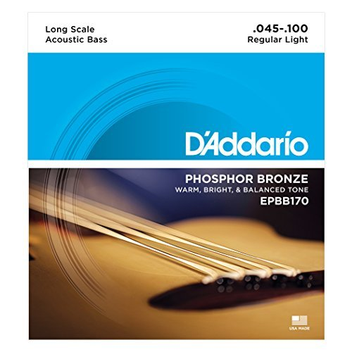 Strings 4 Bass Acoustic - D'Addario EPBB170 Phosphor Bronze Acoustic Bass Strings, Long Scale, 45-100