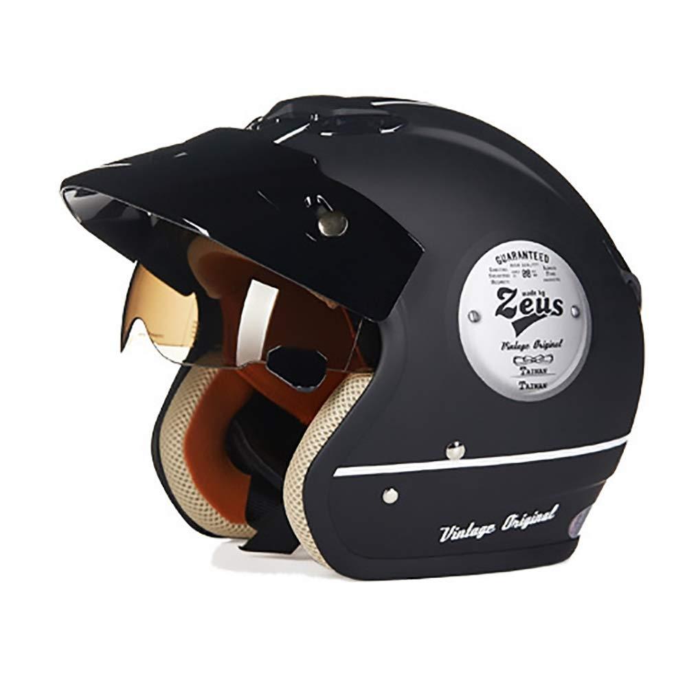 HYH マットブラックABS大人自転車ヘルメット乗馬電気自動車オートバイヘルメット自転車マウンテンバイクヘルメット屋外乗馬機器 いい人生 (Size : M) Medium  B07S58JNVW