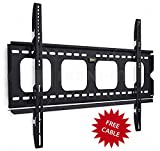 Mount-It! MI-305L Premium Low-Profile Fixed TV Wall Mount Bracket for 42 - 70 inch LCD, LED, 4K Flat Screen TVs Capacity 220 lbs, Max VESA 850x450