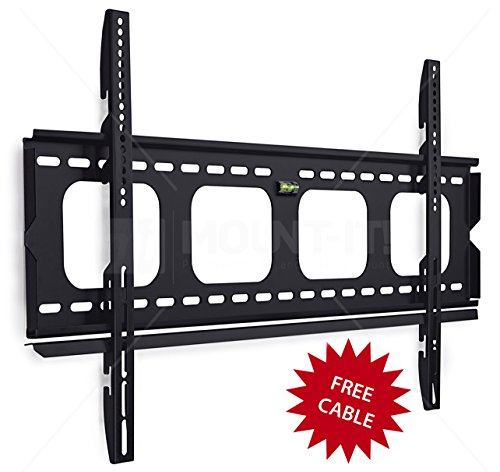 42 Fixed Tv - Mount-It! MI-305L Premium Low-Profile Fixed TV Wall Mount Bracket for 42 - 70 inch LCD, LED, 4K Flat Screen TVs Capacity 220 lbs, Max VESA 850x450