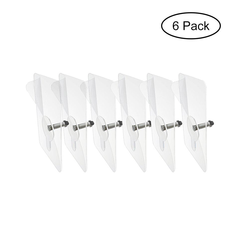 MyLifeUNIT Wall Mounted Bathroom Shelf, No Drilling Screws, Set of 12 (6mm) 8E-4DP1-JCJQ
