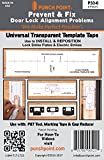 Punch Point P33-6 Transparent Template Tape-Universal-6ea.