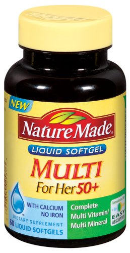 Nature Made For Her multi 50 +, 60 gélules liquides (Pack de 3)