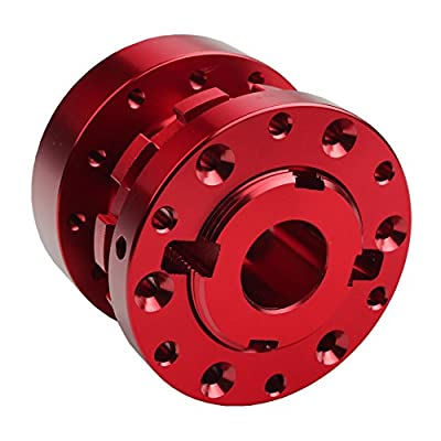 Dewhel Universal JDM Adjustable 1.7 inch to 2.8 inch Steering Wheel Extension Spacer Hub Adapter For Most 6 Hole Bolt Patterns (Red): Automotive