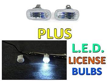 HONDA / ACURA CIVIC / INTEGRA / RSX CLEAR JDM SIDE MARKER LIGHTS + LED BULBS