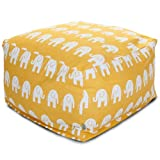 Majestic Home Goods Yellow Ellie Large Ottoman