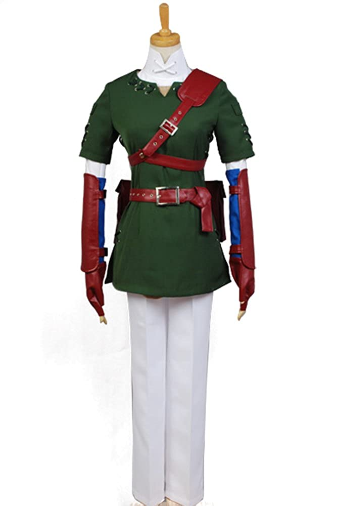 Amazon.com: Ya-cos The Legend of Zelda Link Cosplay Costume Suit New ...
