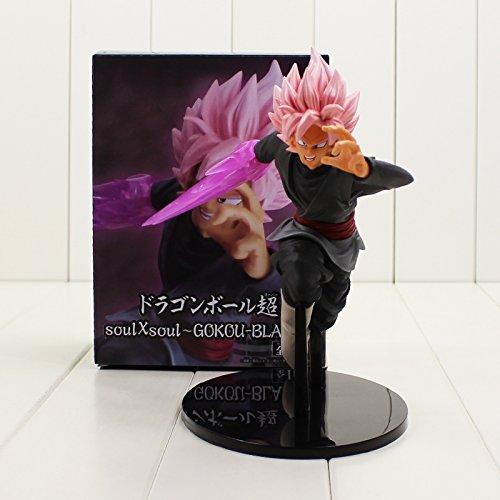 Dragon Ball Soul X Soul Super Saiyan Son Goku Black Pink Hair Action Figure Gokou PVC Model Doll - Figure Pink Pvc
