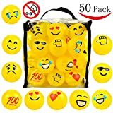 #2: 50 Emoji Pit Balls - Ball Pit - Phthalate Free - BPA Free - Crush Proof Plastic Ball Pit - Sturdy Clear Bag